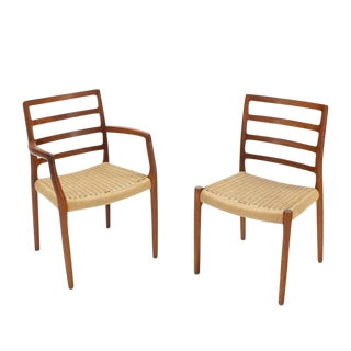 Set of Four Danish Mid-Century Modern Teak Dining Chairs For Sale