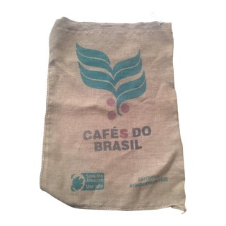 Vintage Brazilian Coffee Bag For Sale