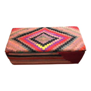 Turkish Kilim Blanket Chest For Sale