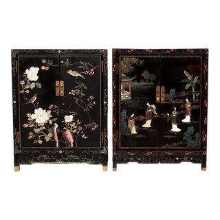 C. 1920-1950 Chinese Export Cabinets, Pair