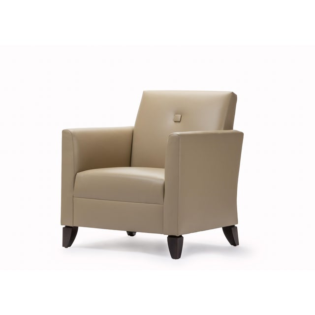 Princeton Leather Reading Chair - Image 2 of 5