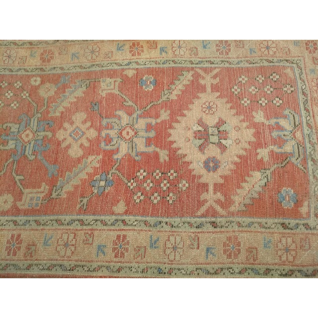 """Late 1800s Turkish Oushak Runner- 3' 5"""" X 14' 5"""" For Sale - Image 4 of 13"""