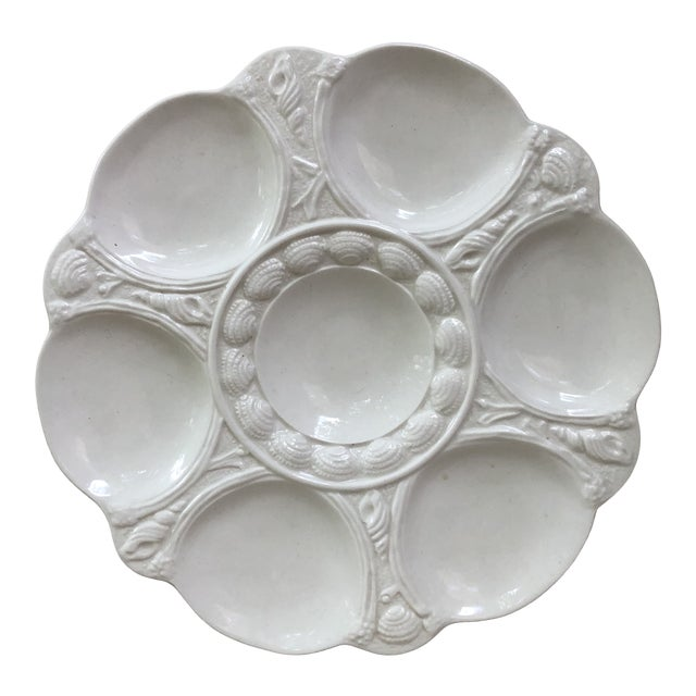 English White Majolica Oyster Plate Arthur Wilkinson, Circa 1910 For Sale