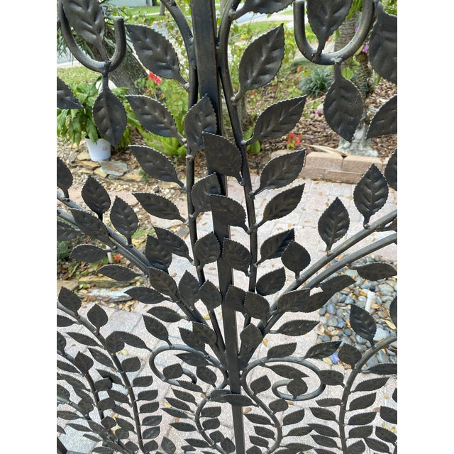 Farmhouse Wrought Iron Handmade Forged Metal Scroll Panel Screen Divider For Sale - Image 3 of 6