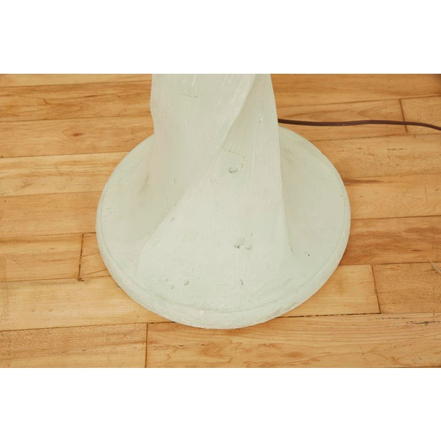 1980s Michael Taylor Style Spiral Plaster Floor Lamp For Sale - Image 10 of 13