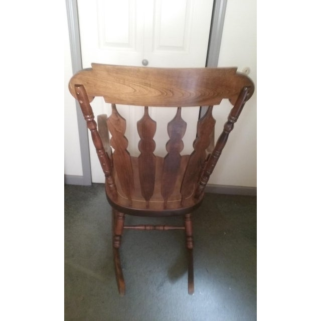 Mid 19th Century Vintage Yugoslavian Rocking Chair For Sale - Image 4 of 11