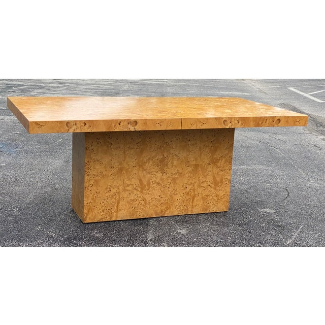 MidCentury Dillingham Burl Wood Dining Table For Sale - Image 11 of 12