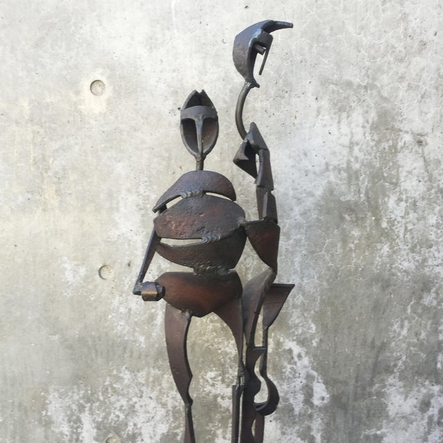 Brutalist Iron Sculpture by Marcus White - Image 5 of 9