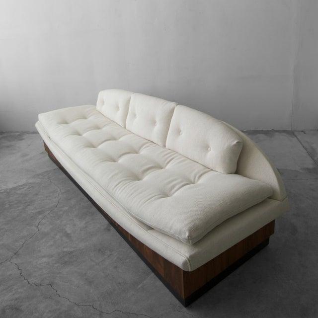 Craft Associates Mid Century Platform Gondola Sofa by Adrian Pearsall For Sale - Image 4 of 8