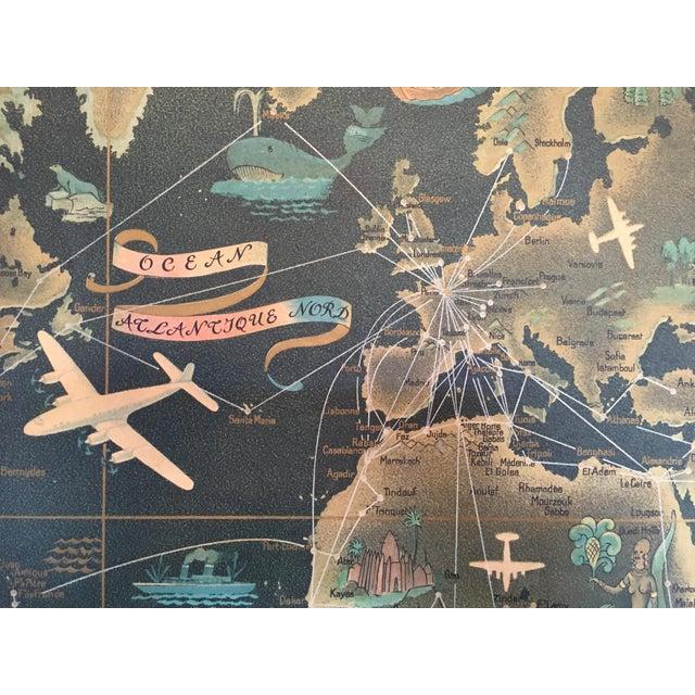 Air France Route Map | Chairish