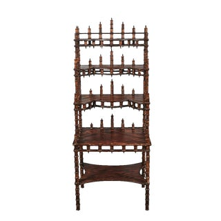 Early 20th Century American Folk Art Spool Etagere For Sale