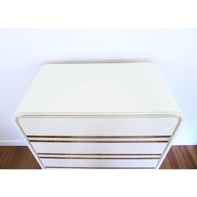 Brass & Lacquer Waterfall Dresser - Image 4 of 8