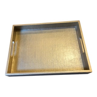 Made Goods Gold Serving Tray For Sale