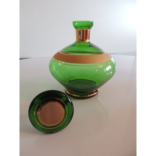 Mid-Century Modern Emerald Green and Gold German Vintage Decanter Preview