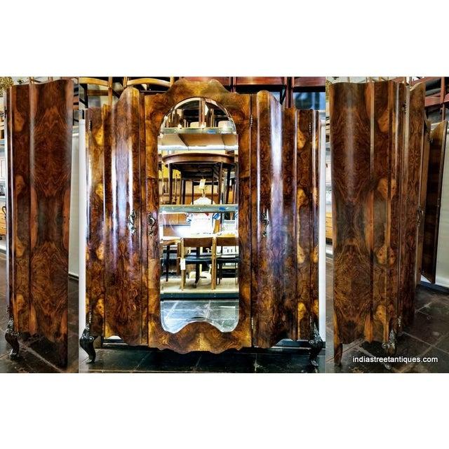 Antique Italian Olive Wood Neo-Rococo Venetian Baroque Six Piece Bedroom Suite For Sale - Image 10 of 13