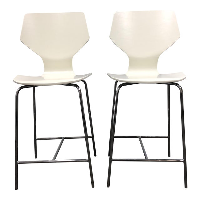 Room Board Pike Counter Stools A Pair Chairish