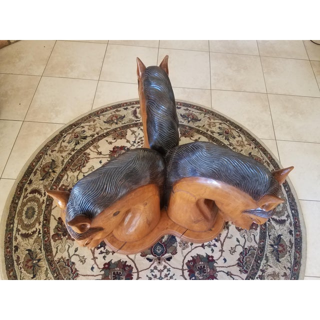 Hand Carved Horse Head Coffee Table For Sale - Image 11 of 13