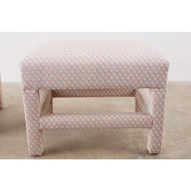 Milo Baughman Style Parsons Ottoman Benches - a Pair For Sale In San Francisco - Image 6 of 12