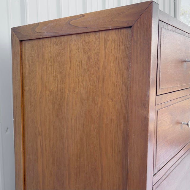 Wood Mid-Century Highboy Dresser From Basic-Witz For Sale - Image 7 of 13