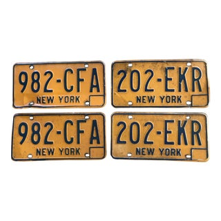 Vintage New York State License Plates - Set of 4 For Sale