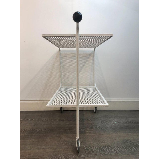 Mid 20th Century Modern Wrought Iron Bar Cart in the Attributed to Salterini For Sale - Image 5 of 10