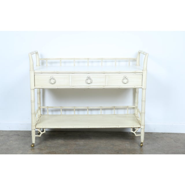 Thomasville Bamboo Style Serving Cart - Image 2 of 11