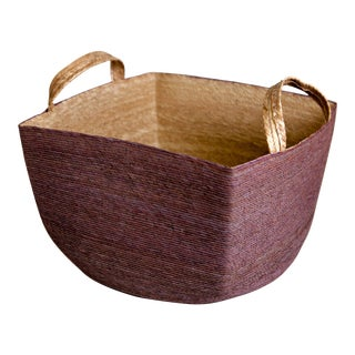 Revistero Basket, Mauve For Sale