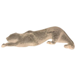 Lalique Frosted Crystal Zeila Panther For Sale