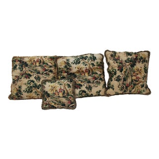 Vintage Asian Pillows - Set of 4 For Sale