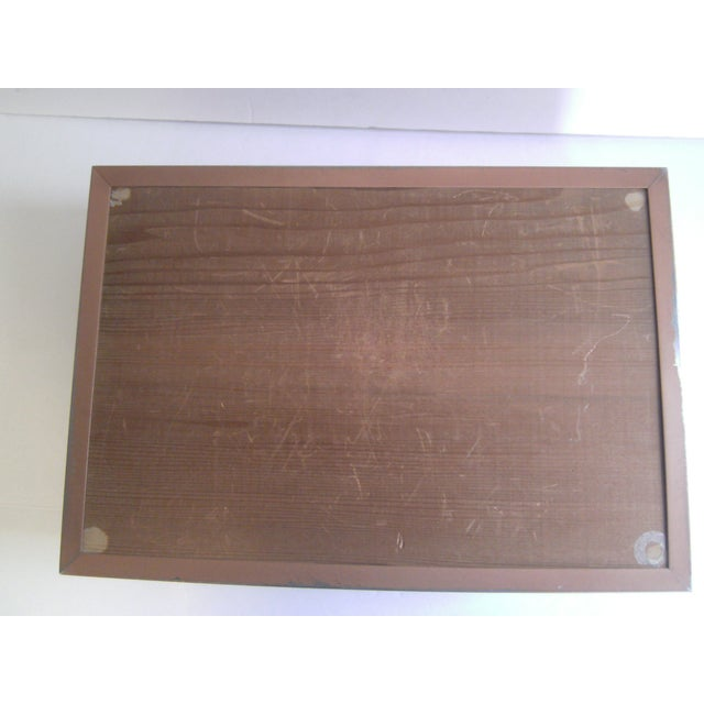 1940s Copper Enameled Metal on Wood Boxes - A Pair - Image 7 of 11