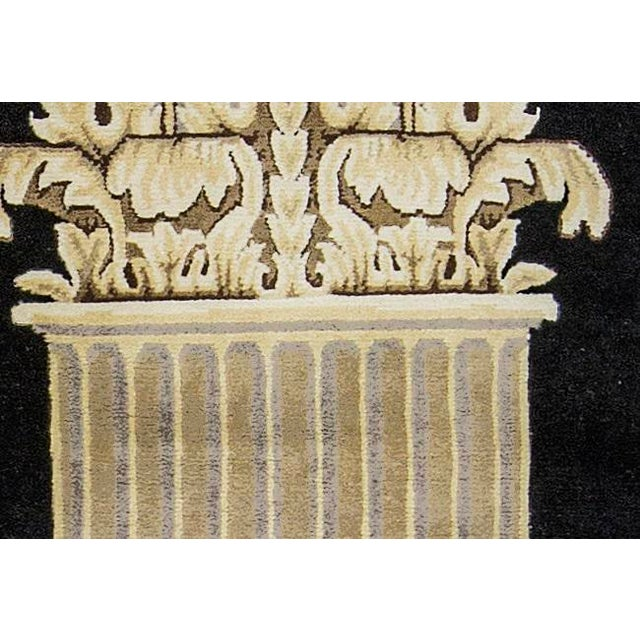 Contemporary Contemporary Hand Woven Beige and Black Wool Rug 2'8 X 8'10 For Sale - Image 3 of 4