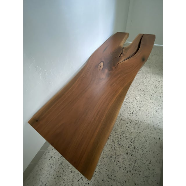 Handcrafted Live Edge Teak Slab Bench or Coffee Table For Sale - Image 4 of 7