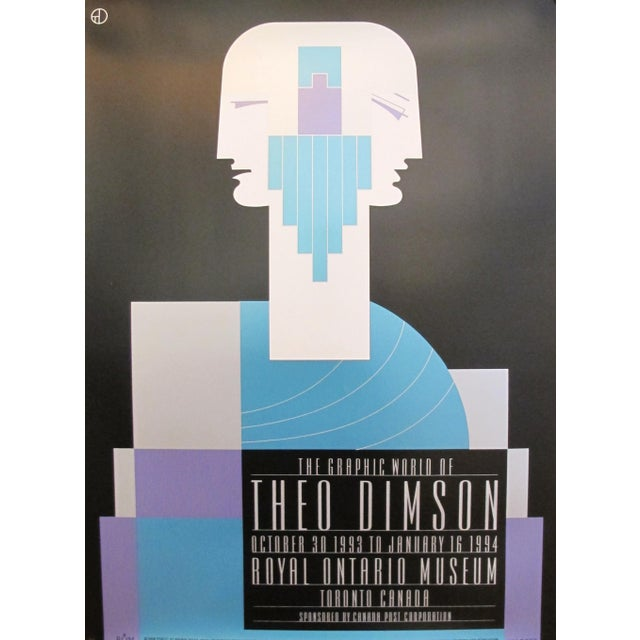 1980s Original Canadian Poster - the Graphic World of Theo Dimson by Theo Dimson For Sale - Image 4 of 4