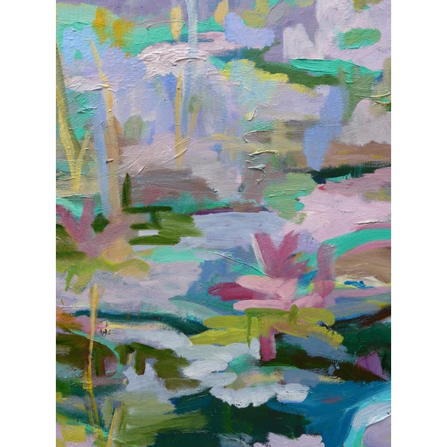 Monumental Lily Pond Oil Painting at Monet's Garden For Sale - Image 11 of 12