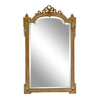 19th Century Large French Gold Ribbon Mirror For Sale