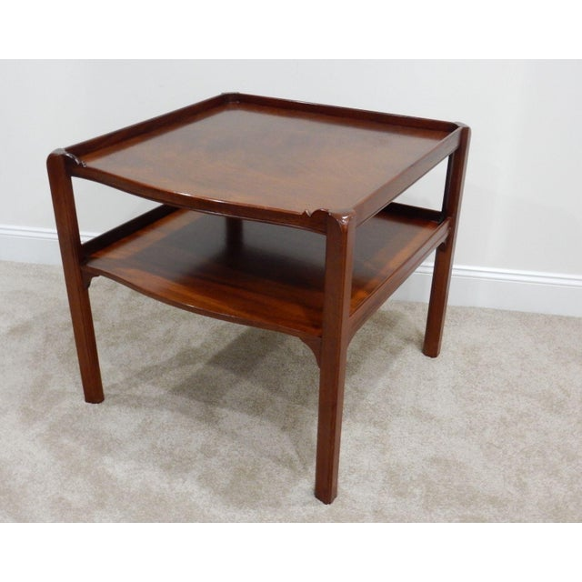 Baker Furniture Large 2 Tier Mahogany Table - Image 3 of 11