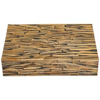 Boho Chic Driftwood Decorative Box For Sale