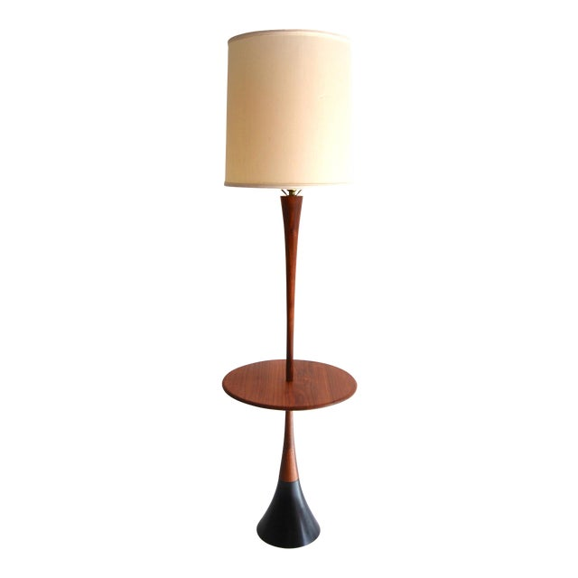 Laurel Lamp Company Tulip Base Table Floor Lamp For Sale