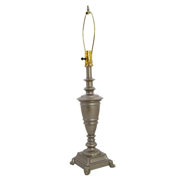 Vintage Brass Lamp in Silver Champagne Auto Enamel - Image 3 of 4