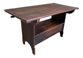 Image of Cherry Wood Tilt-Top Tables
