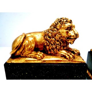 Vintage 1960's Italian Borghese Lion Bookends Preview