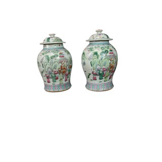 Chinese Porcelain Ginger Jars 19th Century Antique For Sale