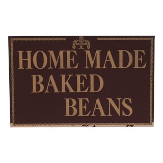Homemade Baked Beans Sign For Sale