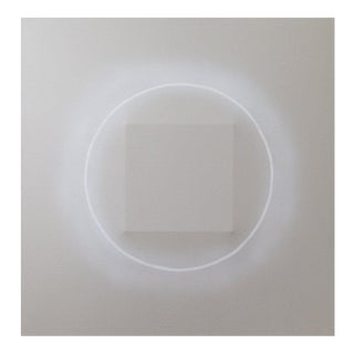 """Corona Gray White"" Original Artwork by Len Klikunas For Sale"