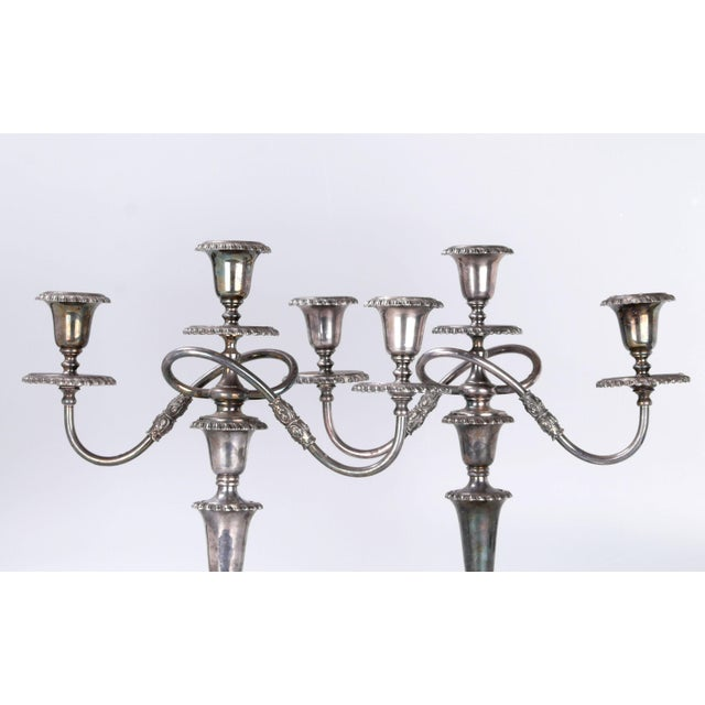 1920s Silver Plated Three Arm Candelabra by Friedman Silver Co. a - Pair For Sale - Image 5 of 10