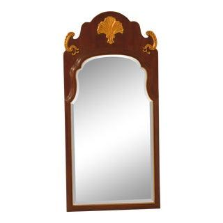 Henredon Mahogany Framed Beveled Glass Mirror For Sale