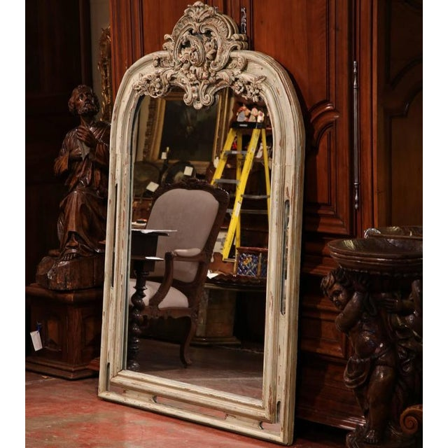 """Elegant and incredibly beautiful, this antique """"miroir a parcloses"""" is an essential for a home of any style. Created in..."""