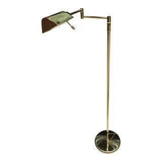 German Modern Holtkoetter Brass Reading Lamp For Sale