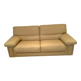 Modern Roche Bobois Leather Sofa For Sale
