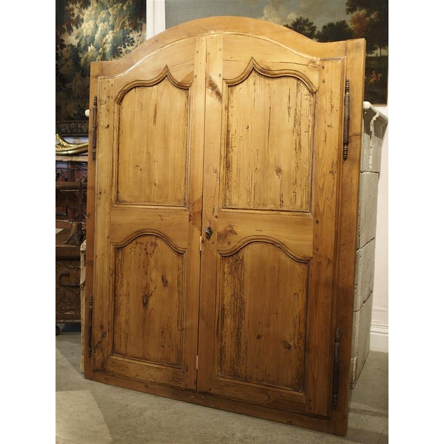 Pair of Antique French Pine Cabinet Doors, 19th Century For Sale - Image 11 of 11